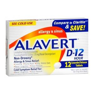Alavert D-12 Allergy & Sinus Extended Release Tablets