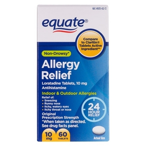 Equate Non-Drowsy 24 Hour Allergy Relief Loratadine Tablets
