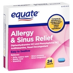 Equate Allergy & Sinus Relief Tablets