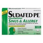 Sudafed PE Sinus and Allergy