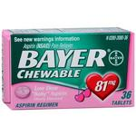 Bayer Chewable Low Dose Aspirin