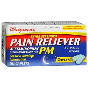 Walgreens Extra Strength PM Pain Reliever/Sleep Aid