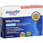 Equate NiteTime Cold & Flu Multi-Symptom Relief Softgels