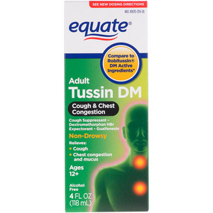 Equate Tussin DM Cough Non Drowsy Cough Suppressant/Expectorant