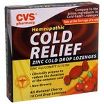 CVS Cold Relief Zinc Cold Drop Lozenges