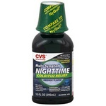CVS Multi-Symptom Nighttime Cold/Flu Relief Liquid