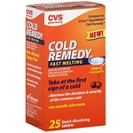 CVS Cold Remedy Fast Melting Quick Dissolving Tablets
