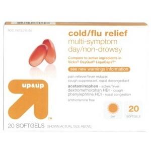 up & up Multi-Symptom Day Non-Drowsy Cold/Flu Relief