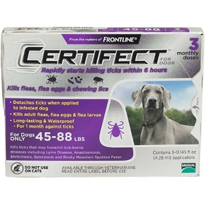 Certifect For Dogs - 45-88 Lbs, 3 Month Supply