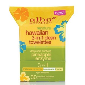 Alba Botanica Natural Hawaiian Pineapple Enzyme 3-in-1 Clean Towelettes