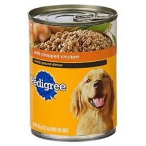 Pedigree Traditional Ground Dinner with Chopped Chicken Canned Dog Food