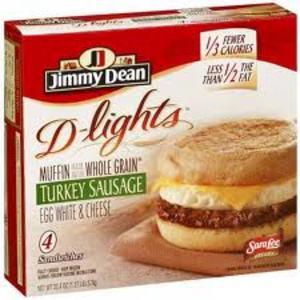 Jimmy Dean D-Lights Sandwiches - Turkey Sausage