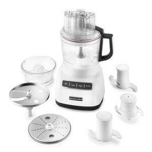 KitchenAid White 9-Cup Food Processor with Mini Bowl