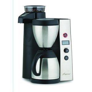 Capresso CoffeeTEAM Therm Stainless Coffeemaker/Burr Grinder Combination
