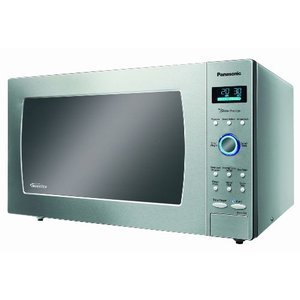 "Panasonic Genius ""Prestige"" 2.2 cuft 1250-Watt Sensor Microwave with Inverter Technology & Blue Electrostatic Dial, Stainless Steel NN-SE982S"