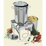 Bayou Classic Stainless-Steel 32-Quart Turkey-Fryer Kit with Stainless-Steel Burner
