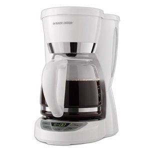 Black & Decker 12-Cup Programmable Coffeemaker, White