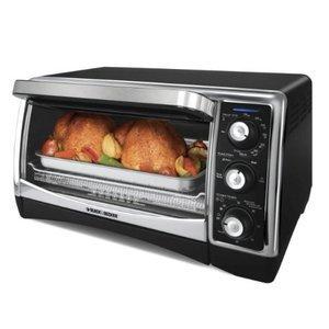 Black & Decker 1500-Watt 6-Slice Countertop Convection Oven and Broiler with Nonstick Interior