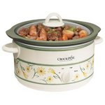 Crock-Pot 5-Quart Slow Cooker, White SCR500-GF