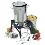 Bayou Classic 32-Quart Stainless-Steel Outdoor Turkey Fryer Kit with Burner