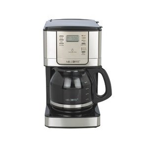 Mr. Coffee 12-Cup Programmable Pause N Serve Coffee Maker, Stainless Steel