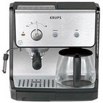 Krups Combination Unit; cup Coffee Maker & 15-bar Pump Espresso