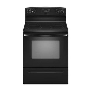Amana 4.8 Cubic Foot Self-Cleaning Electric Range, , Black