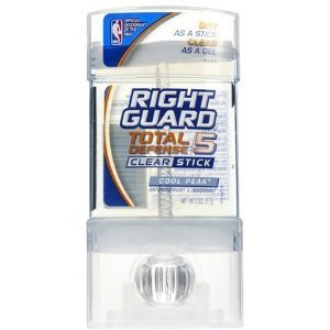 Right Guard Total Defense 5 Clear Stick Deodorant