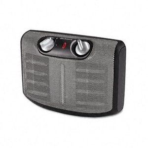 Holmes Ultra-Quiet Dual Ceramic Heater with 1-Touch Electronic Thermostat,