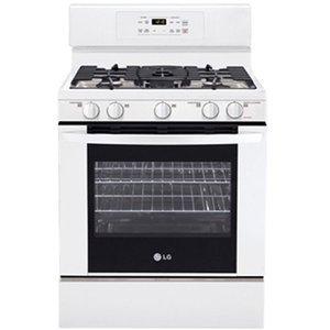 LG Freestanding Gas Range 5 Sealed Burners, 17,000 BTU SuperBoil Burner - White