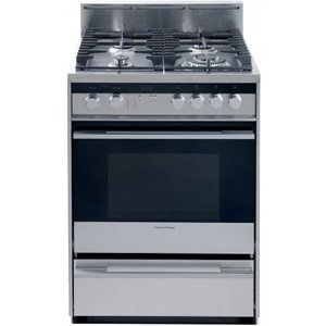 Fisher & Paykel 24 Dual Fuel Range, 4 Sealed Burners, Convection, Warming Drawer OR24SDPWGX1