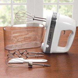 Cuisinart HM-90S Power Advantage Plus 9-Speed Handheld Mixer with Storage Case, White (White,One Size) HM%2D90S HM-90BCS
