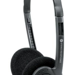 Coby Lightweight Stereo Headphones (Black)