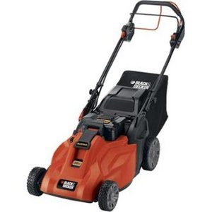 Black & Decker 19-Inch 36-Volt Cordless Electric Self-Propelled Lawn Mower With Removable Battery