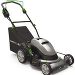 Earthwise 20-Inch 24 Volt Side Discharge/Mulching/Bagging Cordless Electric Lawn Mower