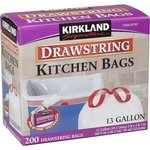 Kirkland Signature Drawstring Kitchen Bags