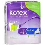 Kotex Natural Balance Overnight Maxi Pads