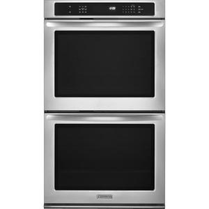"""KitchenAid 30"""" Built-In Double Electric Convection Wall Oven KEBS209BSS"""