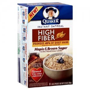 Quaker High Fiber Maple & Brown Sugar Instant Oatmeal
