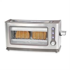Kalorik 2-Slice Toaster with See-Through Glass Panel