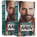 Just For Men Brush-In Color Gel, Mustache & Beard, Dark Brown M-45