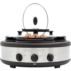 Farberware 3-Crock Round Slow Cooker