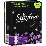 Stayfree Ultra Thin Overnight With Wings Pads