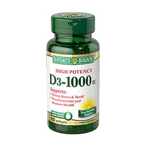 Nature's Bounty Spring Valley - Vitamin D-3 1000 IU