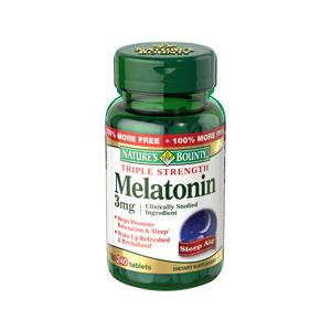 Nature's Bounty Melatonin 3 mg