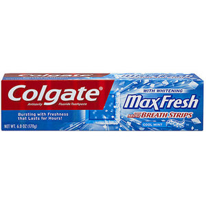 Colgate MaxFresh Cool Mint with Mini Breath Strips Toothpaste