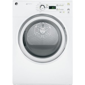 GE 7.0 Cu. Ft. White Stackable Gas Front Load Dryer