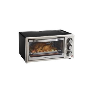 Hamilton Beach Convection 6-Slice Toaster Oven, Black and Stainless Steel
