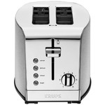 KRUPS Breakfast Set 2-Slice Toaster with Brushed and Chrome Stainless Steel Housing, Silver