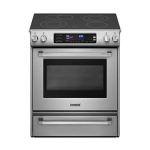 "KitchenAid PRO 30"" Stainless Steel Electric Slide-In Smoothtop Range - Convection"